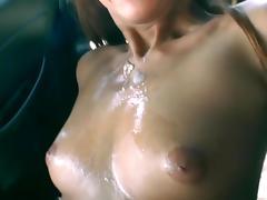 Hot POV fuck in the car with Deanna Dare