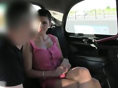 Huge boobs cougar fucked and throated drivers cock