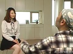 Dazzling Japanese babe moans erotically while being pounded