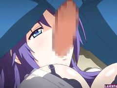 Hentai babe gets licked and sucks hard cock