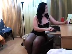 Curvaceous darksome brown seductress demonstrates her thick wazoo