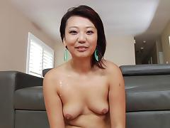 After shoot interview with cute Asian girl Miko Dai
