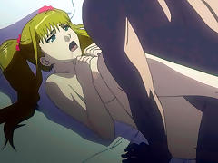 Blonde hentai girl gets fucked