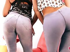BIG-ASS & Cameltoe In Jeans. The Denim Girlfriends!