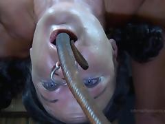 Strappado, claustrophobia and orgasm predicament for captive