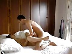 Oriental lad tease and bonks his hot Oriental wench.