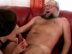 Grandpa and hot girl enjoying nasty Sex