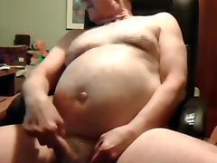 grandpa stroke and cum on cam
