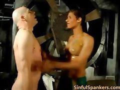 Hot skank was being naughty and getting part1