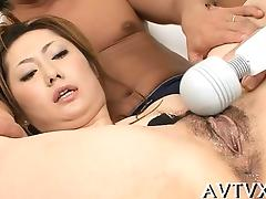 Oriental receives deep fucking after wet oral-stimulation