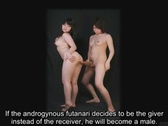 Bizarre Japanese futanari subtitled instructional clip