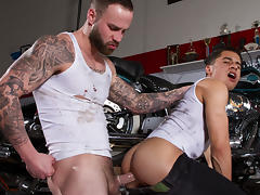 Armond Rizzo & Chris Bines in Ride It, Scene 01 - HotHouse