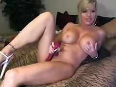 Dirty Talking Blond Milf Toys