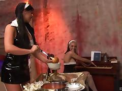 Busty nuns and the cocks that they always wanted to have a taste of