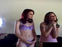 Randy porn stars tease their partners with their hot curves