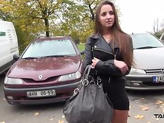 Takevan - Party babe jump in car with stranger and fuck