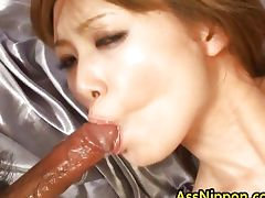 Horny Asian Babe gets Pussy and Anus