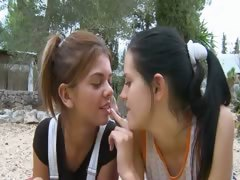 Girls eating pussies in the outdoor
