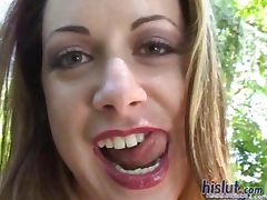 This slut swallows cum