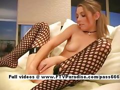 Ingenious Kymberly adorable blonde babe fisting pussy