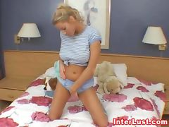 Horny Busty College Chick Solo