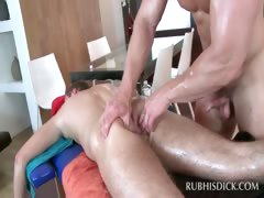 Gay hottie hammering straight butt