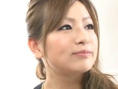 Slinky Japanese Babe Yukina in Black and Gold Ready for Dick