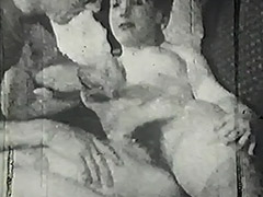 Mustached Boy Fucks Young Cutie's Pussy 1950
