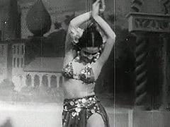 Petite Girl Having Fun on the Stage 1940
