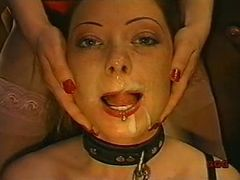 Girl used as cock sucking slave
