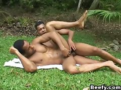 Black gays fucking in the garden
