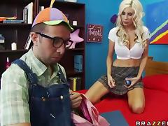 Nerdy Dude Banging the Hot Blonde MILF Puma Swede