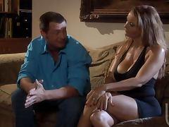 Brunette Whore Janet Mason hottest Blowjob Ever