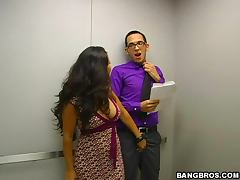 Quick Elevator Sex With A Smoking Hot Asian Babe