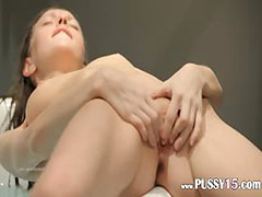 18yo skinny girl fingering in a jacuzzi