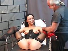 Slim submissive enjoys the tit pain