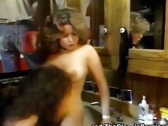 Retro erotic and lesbian licking