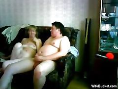 average wife gives a funny blowjob
