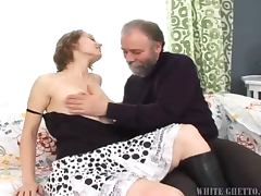 Aged dude makes Beauty Jill suck his cock