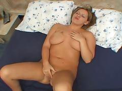Short hair mature woman enjoying sex