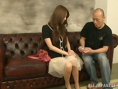 Satou Haruka gets her pussy toyed and amazingly drilled