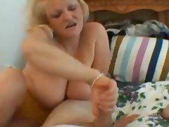 Blonde Mature Handjob