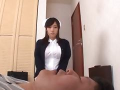 Busty Asian chick Maika gets her hairy pussy fingered and fucked
