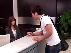 Mari Nitta the hot Asian office girl gets fucked and jizzed on