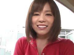 Cute Japanese lady loves using her big baloobas to get guys