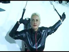 Sexy blonde slave girl posing
