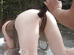 Outdoors in wine enema