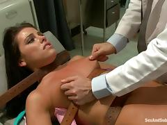 Doctor James Deen suspends Adriana and bangs her twat