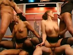 Group orgy with lots of pissing