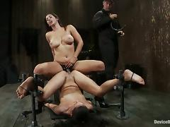 Beautiful Amber Rayne Exposed in Bondage Vid for Isis Love Strapon Fuck